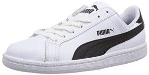 Puma Puma Smash Leather, Unisex-Erwachsene Sneaker, Weiß (white-black-white 11)/white-black 10, 44 EU
