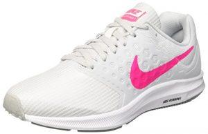 Nike Damen Downshifter 7 Laufschuhe, Weiß/Rosa