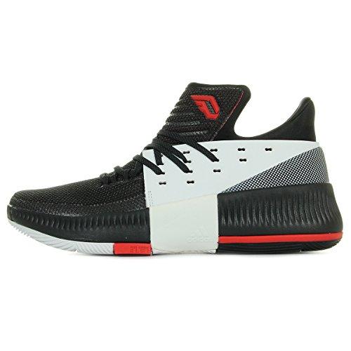 Adidas D Lillard 3 Herren Basketball-Schuhe, Schwarz – (NEGBAS/NEGUTI/FTWBLA) 43 Schwarz / Weiß / Rot