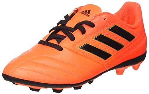 adidas Jungen Ace 17.4 FxG J Futsalschuhe, Weiss/Gelb/Schwarz