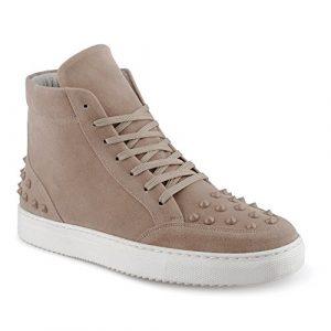 FiveSix Herren Sportschuhe High Top Sneaker Nieten Basketballschuhe Velours-Optik Freizeitschuhe Schuhe