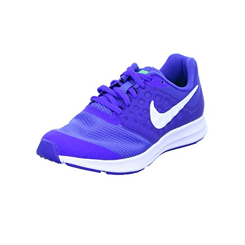 Nike Unisex-Erwachsene Zapatillas Downshifter 7 (GS) Mega Blue/White Green Strike R Fitnessschuhe