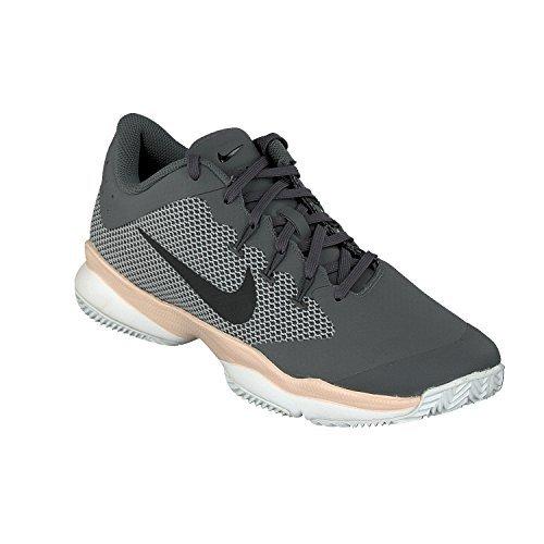 Nike WMNS AIR ZOOM ultra CLY–Sneaker, Damen, Grau (Dark Grey/black-orange quartz-wolf Grey)