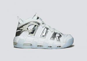 Nike Damen Air More Uptempo Basketballschuhe, Bianco
