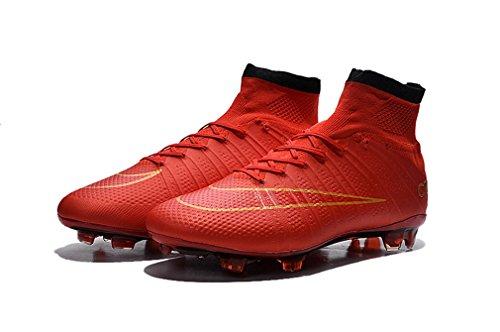 Herren Mercurial X Superfly FG CR rot High Top Fußball Schuhe Fußball Stiefel mit