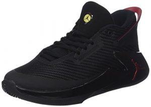 Nike Jungen Jordan Fly Lockdown BG Basketballschuhe, Schwarz/Rot