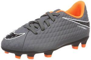 NIKE Unisex-Kinder Jr Phantom 3 Club Fg Fußballschuhe, Grigio (Dark Greytotal Orangewhite 081), 34 EU