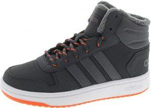 adidas Unisex-Kinder Hoops Mid 2.0 Basketballschuhe, Grau Carbon/Grefiv/Hireor, 31 EU