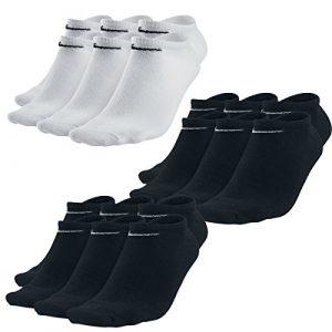9 Paar Nike Sneaker-Socken NoShow Sortiert Schwarz/Weiß in allen Größen (3 Paar Weiß + 6 Paar Schwarz, M)