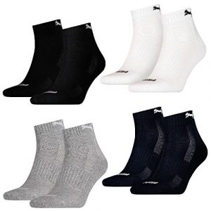 PUMA Unisex Match Quarters Socken Sportsocken MIT FROTTEESOHLE 12er Pack black 200 – 39/42