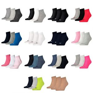 Puma 12 Paar Unisex Quarter Socken Sneaker Gr. 35-49 für Damen Herren Füßlinge
