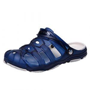 SOMESUN Herren Freizeit Strand Sandalen Männer Jungen Mode Atmungsaktiv Hohl Watschuhe Hausschuhe Weich Beiläufig Gemütlich Rutschfest Schuhe (EU44/CN45, Blau)