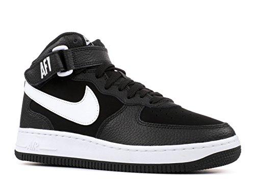 NIKE Jungen Air Force 1 Mid (Gs) Basketballschuhe, schwarz