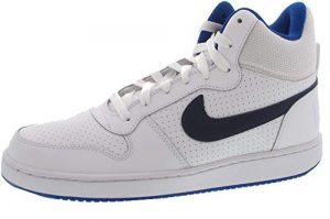 Nike Herren Court Borough Mid Basketballschuhe, Wolf Grey/White-Gym Red
