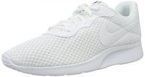 Nike Damen Wmns Tanjun Trainingsschuhe, Blau, Blanco (White / White-Black), 42 EU