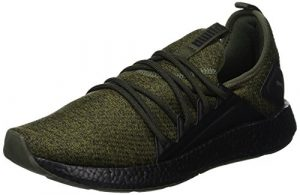 Puma Herren NRGY Neko Knit Laufschuhe, Grün (Forest Night Black 02), 42.5 EU