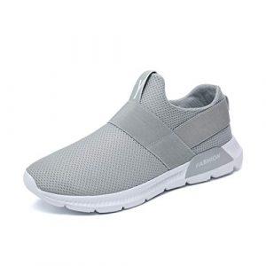 YAYADI Männer Schuhe Männer Wohnungen Sommer Atmungsaktiv Schnürung Mesh Freizeitschuhe Licht Komfort Outdoor Schuh Ogging Fitness Schuhe Leichte