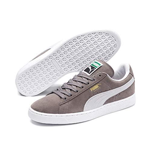 Puma Unisex-Erwachsene Suede-Classic+ Sneakers, Grau (Steeple Gray-White), 46 EU