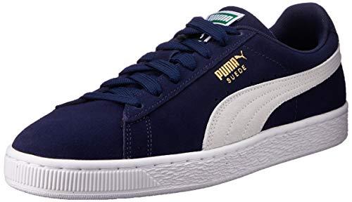Puma Herren Suede Classic + Sneakers, Blau (peacoat-white), 46 EU