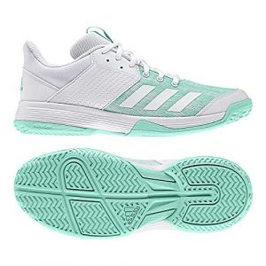 adidas Damen Ligra 6 Fitnessschuhe, Blanc/vert Turquoise