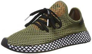 adidas Herren Deerupt Runner Fitnessschuhe, kaki Clair/Noir/orange VIF, EU