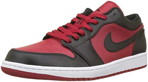 Nike Herren Air Jordan 1 Low Basketballschuhe, Schwarz