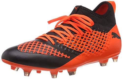 Puma Herren Future 2.3 Netfit FG/AG Fußballschuhe, Schwarz Black-Shocking Orange 02, 43 EU