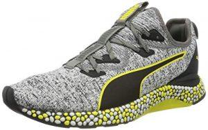 Puma Herren Hybrid Runner Laufschuhe, Schwarz Black White-Blazing Yellow, 44 EU