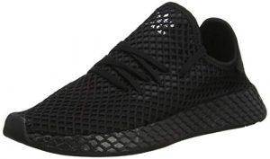 adidas Unisex-Erwachsene Deerupt Runner J-B41877 Gymnastikschuhe, Noir/Blanc