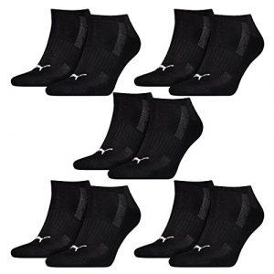 PUMA 10 Paar Sneaker Socken mit Frottee-Sohle Gr. 35-46 Unisex Cushioned Kurzsocken