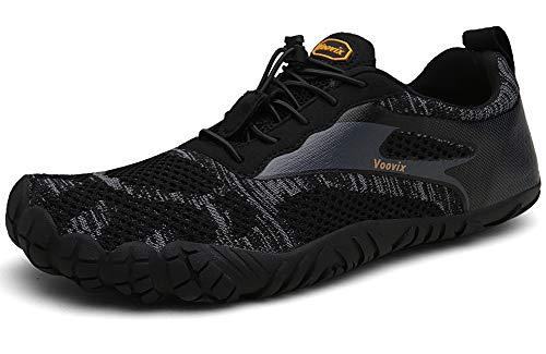 Voovix Barfußschuhe Herren Damen Outdoor Fitnessschuhe Traillaufschuhe Atmungsaktive rutschfeste Laufschuhe