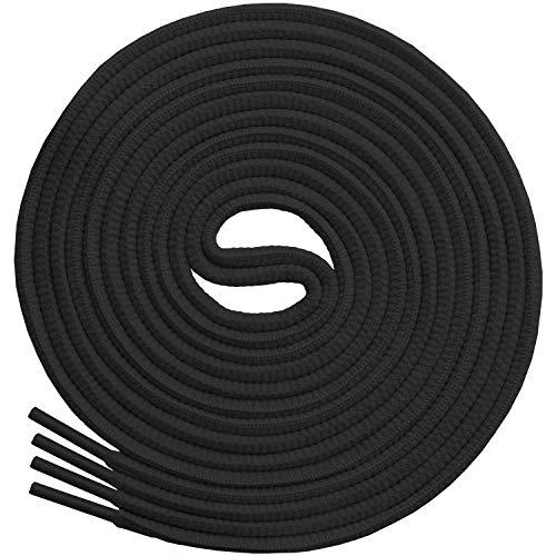 Miscly - Schnürsenkel Oval, Reißfest [3 Paar] für Sportschuhe, Sneaker und Laufschuhe - 100% Polyester - Ø 6mm