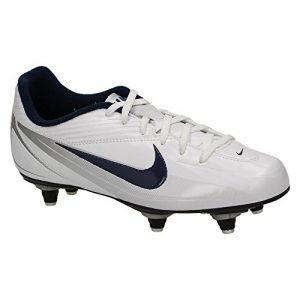 Nike 'JR RIO 2 SG' Kinder Fußball Schuhe Stollensohle, Weiß Blau